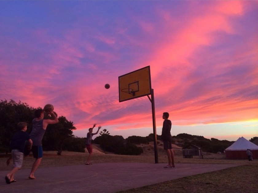 Basketball, late Monday afternoon. Photo copyright Verity Chambers