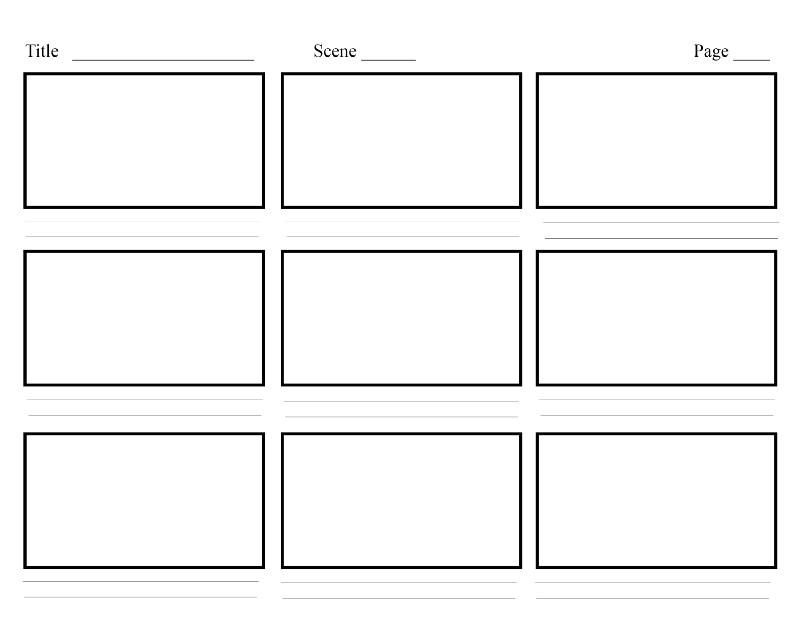 storyboard 2 - blank frames
