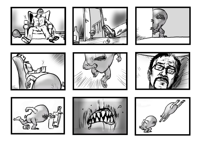 storyboard 5 - illustrated