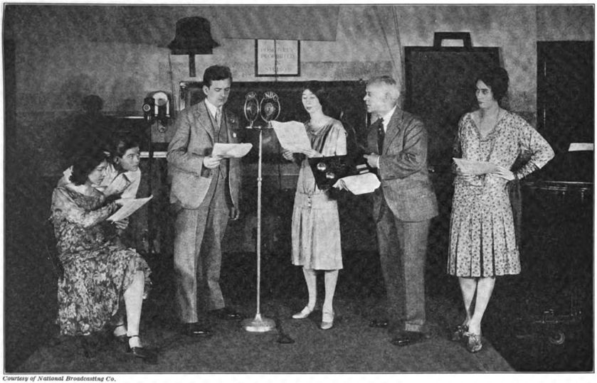 An early live radio play being broadcast at NBC Studios, New York.
