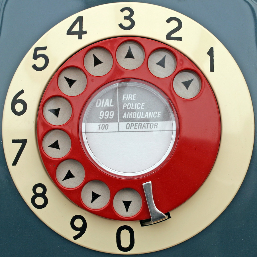 retro rotary dial telephone